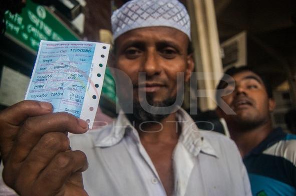 Gathering for Rail Ticket at Kamalapur, Dhaka, Bangladesh