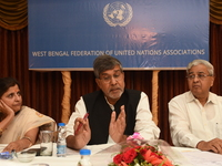 Indian Nobel Peace Shri Kailash Satyarthi in Kolkata