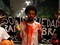 Vigil against the condemnation of Rafael Braga in Sao Paulo
