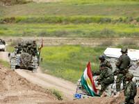 Peshmerga forces training