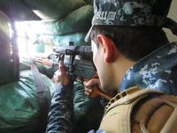 Islamic State fighters in Mosul
