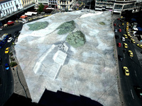 Art project Invisible City by artist Gregor Schneider in Athens