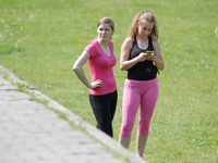 Special Outdoor Aerobic Training in Myslecinek Park, Poland