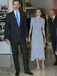 Spain's King Felipe VI and Spain's Queen Letizia
