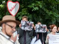 Afghans protesting against deportations in Berlin