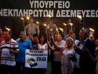 Overnight protest at the Greek Finance Ministry