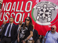 Far-right movement CasaPound demonstration against the 'Ius Soli'