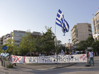 Golden Dawn held a torch-lit protest in Thessaloniki