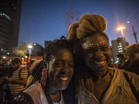 Black and Indigenous protest against racism in Sao Paulo