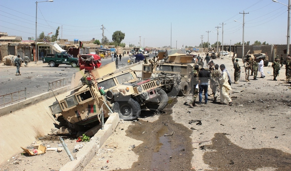 Suicide attack in Helmand province, Afghanistan