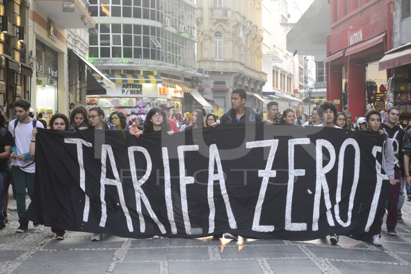 Protest Against Public Transport Policy in Sao Paulo