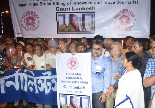 Protests Over Killing Of Bengaluru Journalist Gauri Lankesh