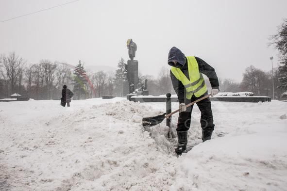Snowfall in Kharkov