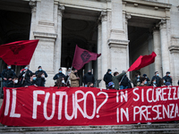 Students Protest Postponed Reopeninng Of Schools In Italy