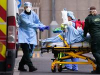 Paramedics Work At Royal London Hospital As Coronavirus Pressures Mount
