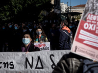 Students Protest In Athens