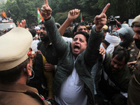 Congress Party's Protest Against New Farm Laws In New Delhi