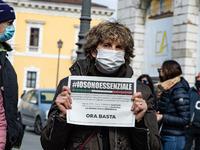 Street Vendors Rally In Brescia