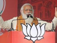PM Narendra Modi Addresses Public Meeting At Barasat, West Bengal