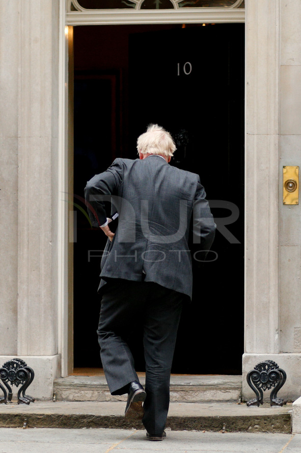 Boris Johnson Returns To Downing Street After Prime Minister's Questions