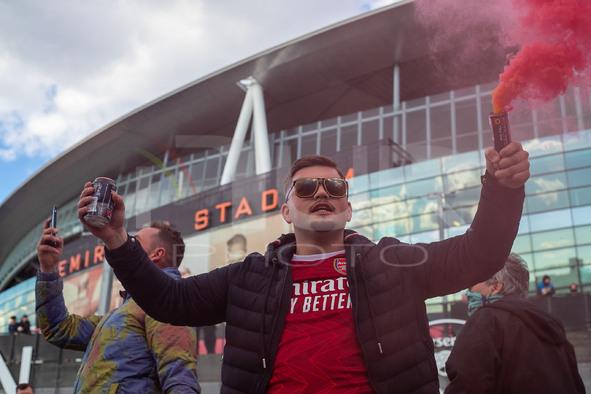 Arsenal Fans Protest Against Stan Kroenke - London, UK