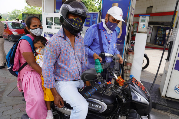 Congress Party's Protest Over Fuel Hike In New Delhi
