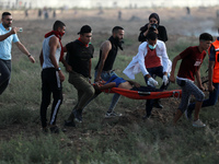 Palestinians hold anti-Israel protest at Gaza border
