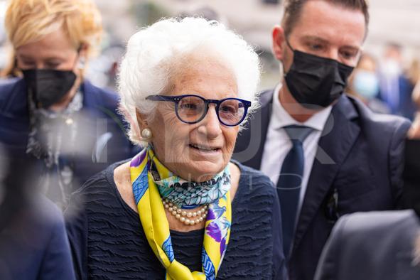 Mario Draghi And Liliana Segre Visit The Shoah Memorial In Milan