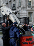 Greenpeace Activists Stage Cambo Oilfield Protest Outside Downing Street In London