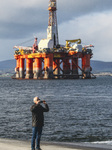Idle Oil Platforms In The Cromarty Firth