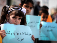 Palestinian Children Protest in Gaza