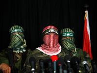 Gaza: press conference of al-Qassam Brigades