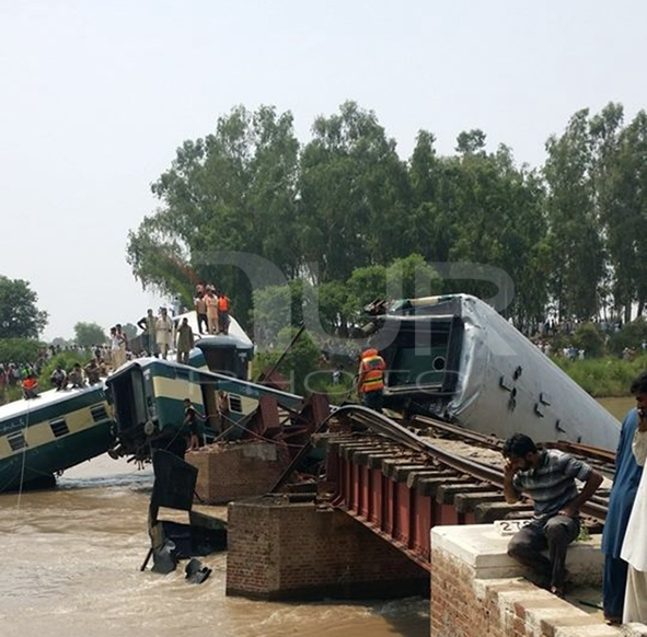 Train accident in Pakistan