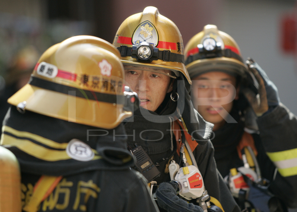 Fire in residential area of Tokyo