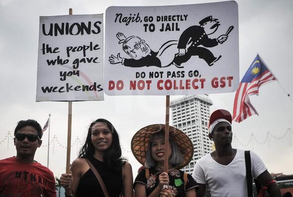 Mayday anti GST rally
