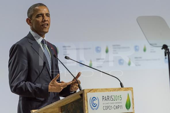 COP21: Barack Obama during the World Climate Change Conference 2015