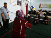 Disabled Palestinian volleyball of Women's in Gaza Strip