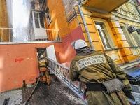 Massive Fire Breaks Out In Kiev Apartment Building