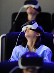 Samsung devises and stand at Mobile World Congress