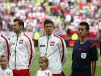 Poland v Lithuania friendlu football game in Gdansk, Poland