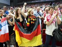 Handball: Poland v Germany game in Gdansk, Poland