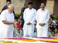 Remembrance Ceremony For The 147th Birth Anniversary Of Mahatma Gandhi In New Delhi