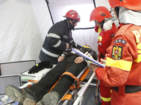 Earthquake Exercise In Bucharest, Romania