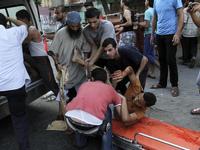 Israeli airstrike in the Shejaiya neighbourhood east of Gaza City