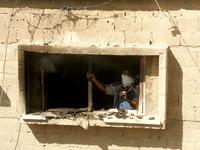 Israeli air strike in Rafah, the southern Gaza Strip