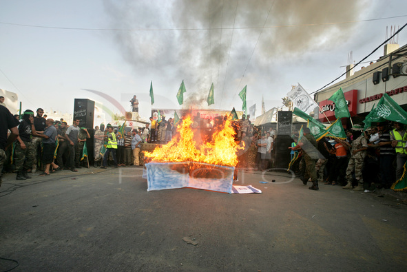 Demonstration supports the Hamas delegates