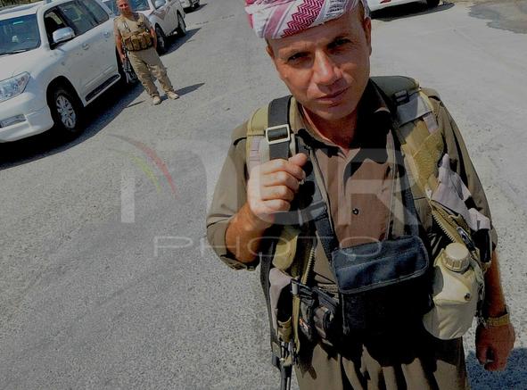 Peshmergas on Patrol in Al Quosh