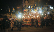 Torchlight procession for 98th anniversary of the battle of Kruty