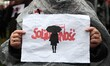 Polish women strike against abortion ban in Gdansk