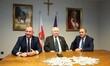 Lech Walesa meets PO leader in Gdansk, Poland